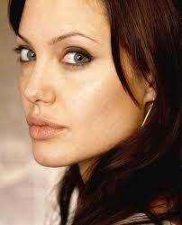 Foto sopracciglia ad ali di gabbiano Angelina Jolie